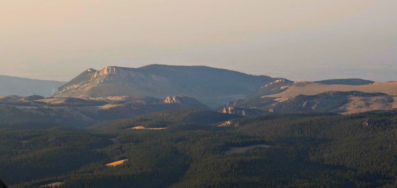 Looking Northeast towards Steamboat Rock from the Summit of Black Mountain.
