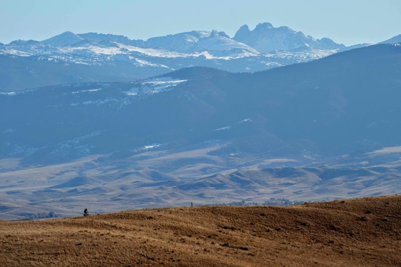 Looking Southwest towards the Bighorn Mountains. Black Tooth Mountain stands over 13,000' high.