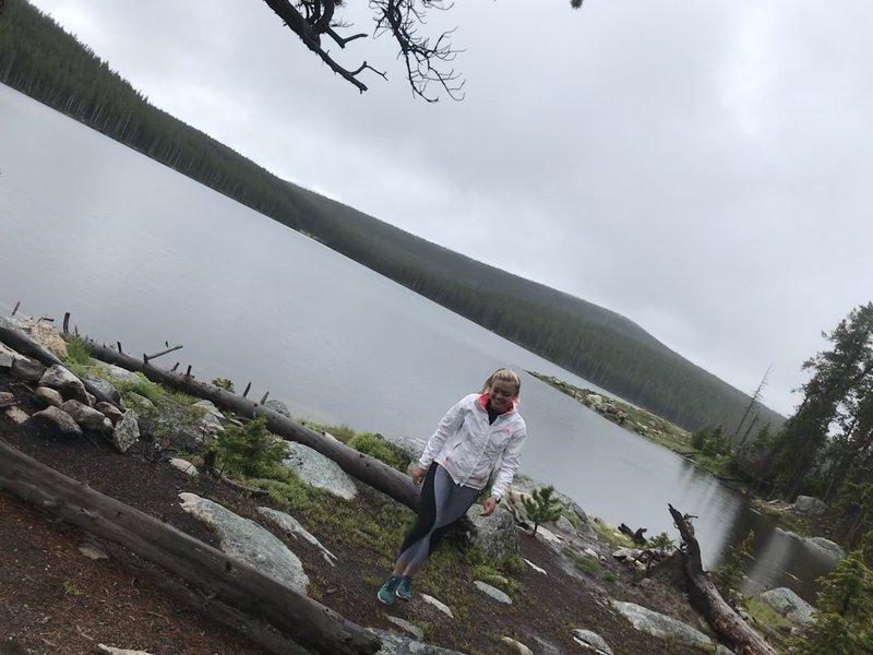 View of larger lake