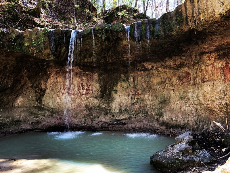 One of the waterfalls along the trail