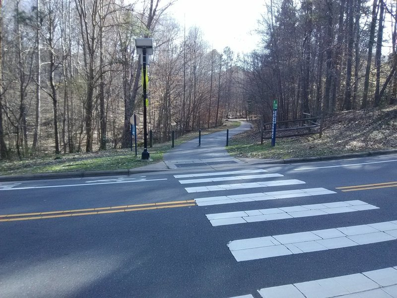 Road crossing of Black Creek Greenway