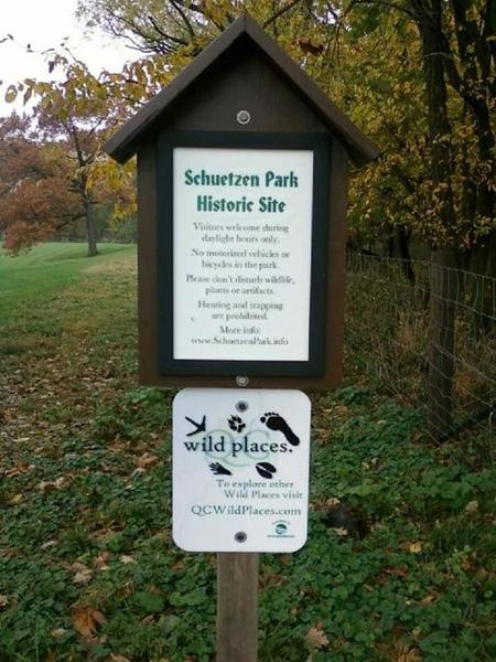 Enter the Schuetzen Park from the east side off of Telegraph Road - stay on marked trails.