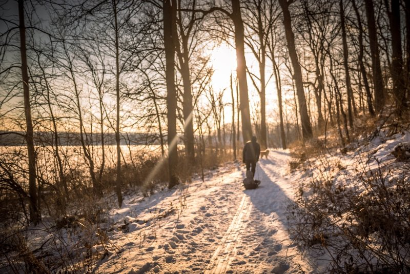 A winter walk along Captain Cootes Trail.