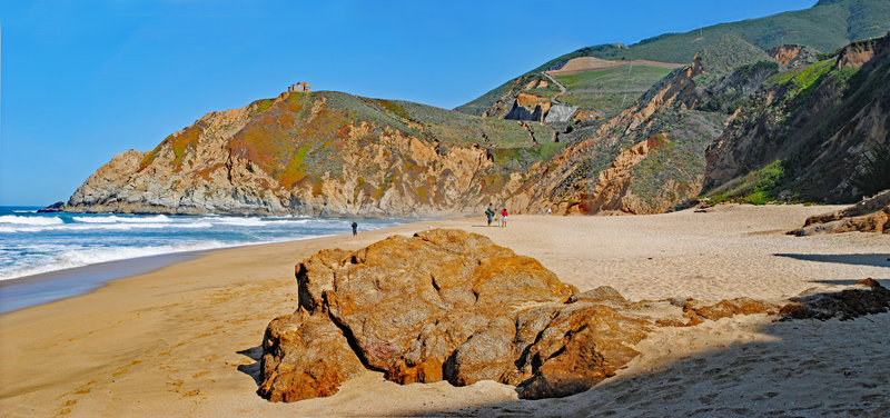 Grey Whale Cove and Look-Out Point from south end of beach.
