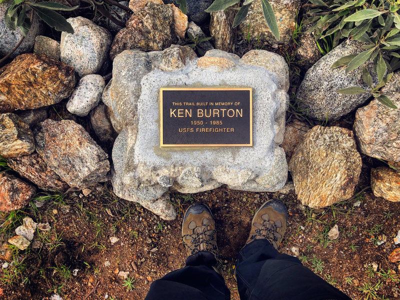 The Ken Burton Memorial.