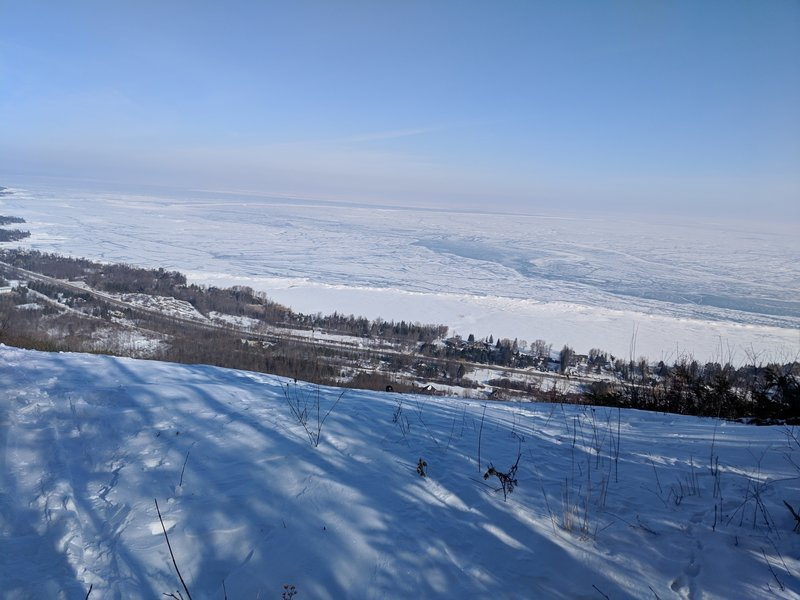 View of Georgian Bay from top of Escarpment