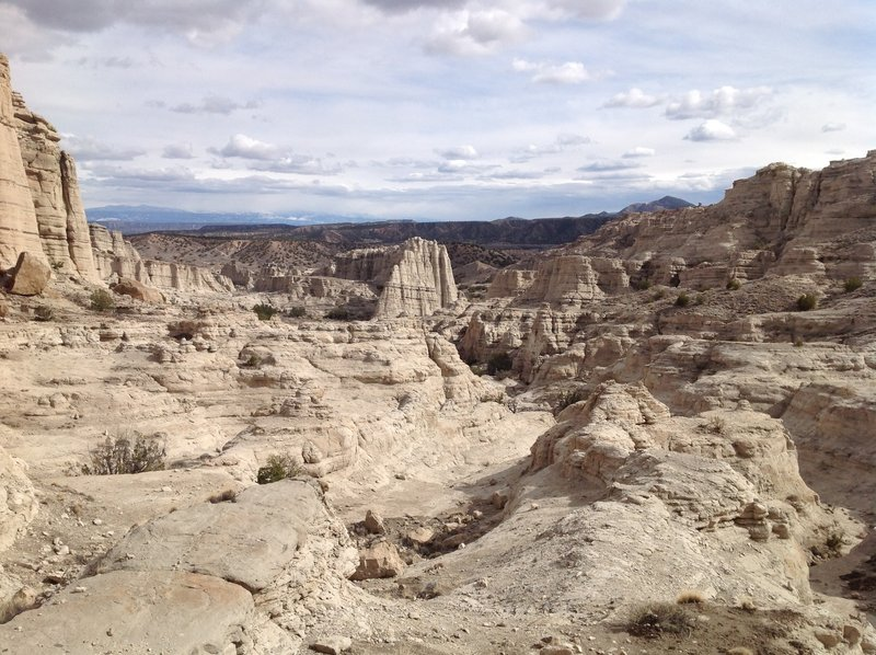 Plaza Blanca, Abiquiu, New Mexico - a fine day to hike in solitude