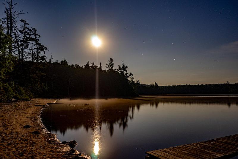 Moon Rising Over Moss Lake