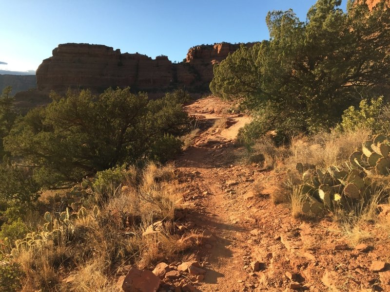 Right around the corner from the slick rock rim feature on Mescal!