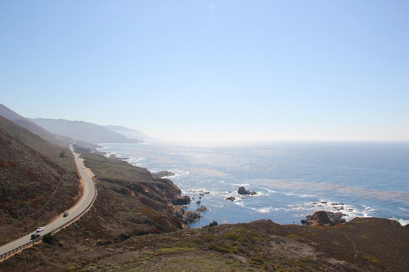 California Route 1 and Pacific Ocean