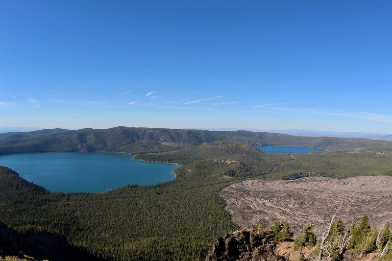 Paulina Lake, East Lake and Big Obsidian Flow