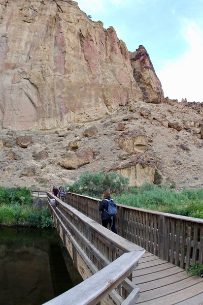 Marlena crossing Crooked River