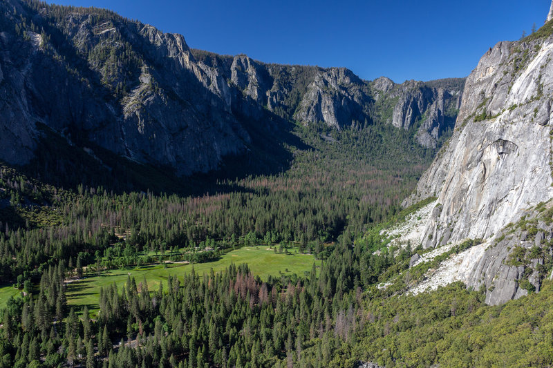 Western Yosemite Valley from the first overlook on Yosemite Falls Trail.