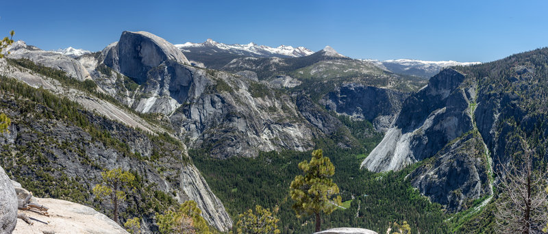 Half Dome and Glacier Point are just two of the highlights from Yosemite Point.