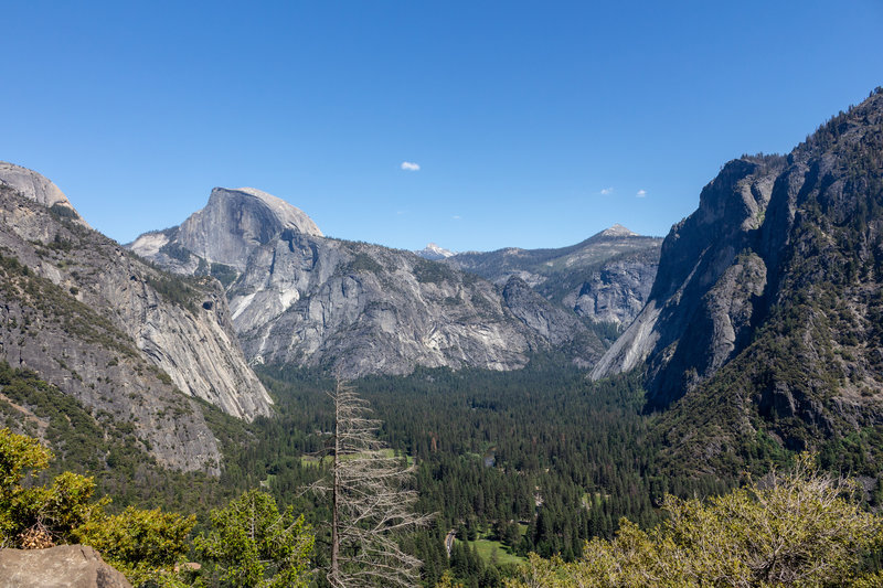 Glacier Point and Half Dome on a sunny June afternoon