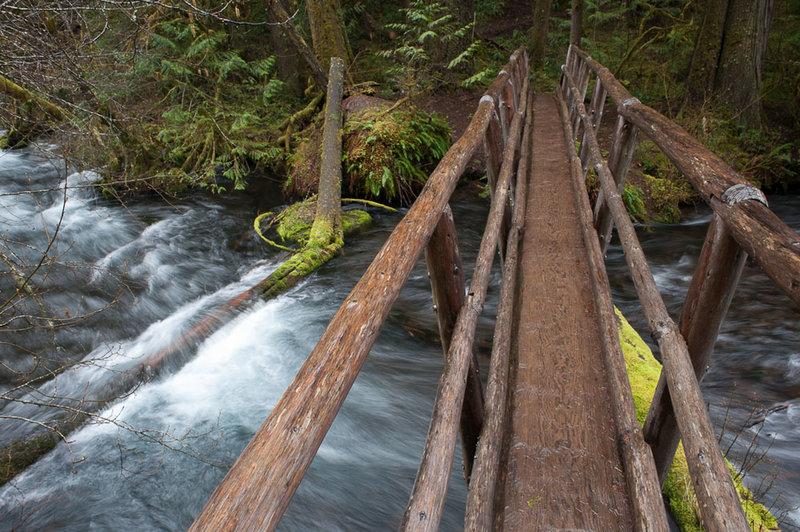 Trail bridge over Lost Creek