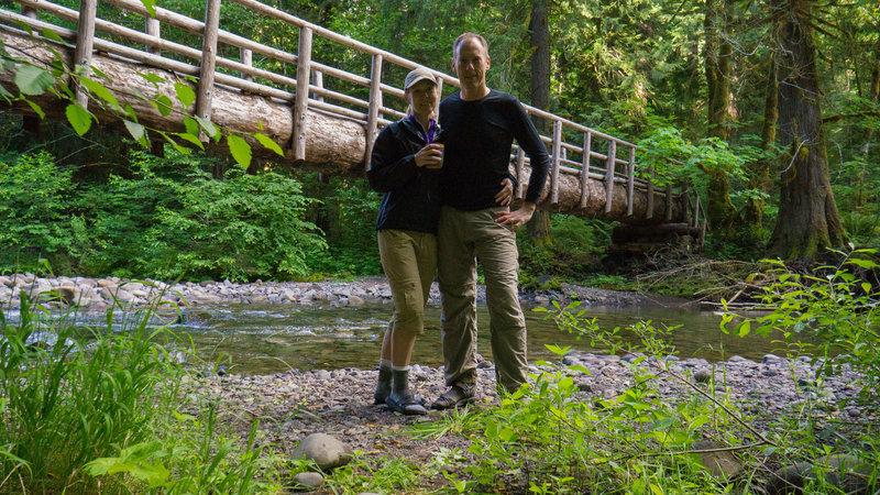 Chris and Julie breaking camp at Deer Creek