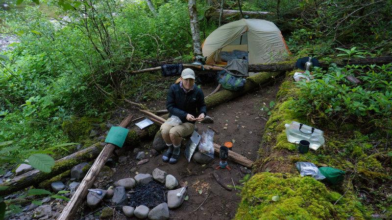 Our campsite near Deer Creek