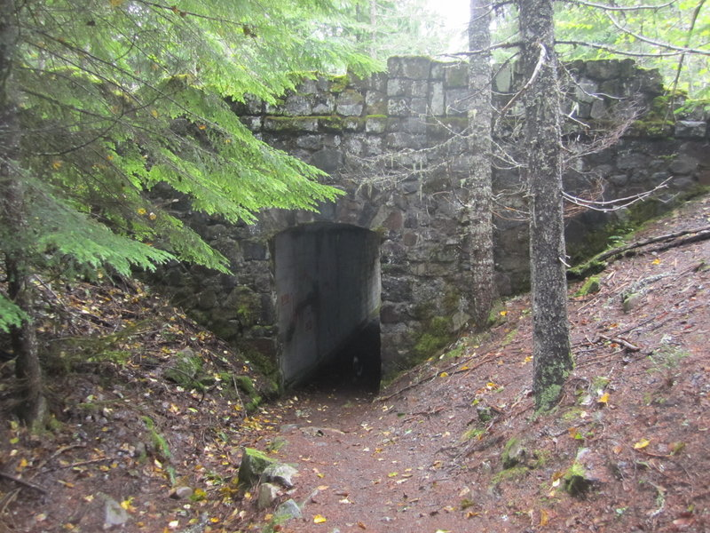 The tunnel under the old Highway 26 crossing along Pioneer Bridle Trail