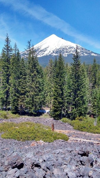 Mt. McLoughlin from the High Lakes Trail in spring of 2017.