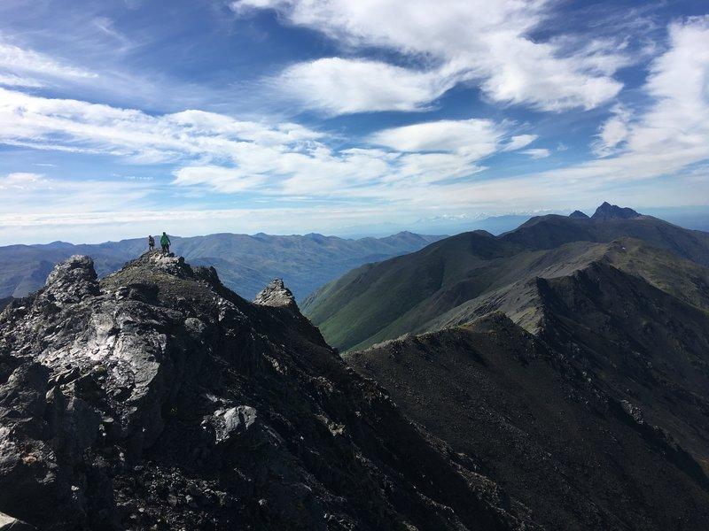View of the Eklutna High Ridge from Yudikench Peak.