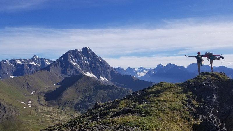 Bold Peak and Eklutna Glacier from Bleak Peak.