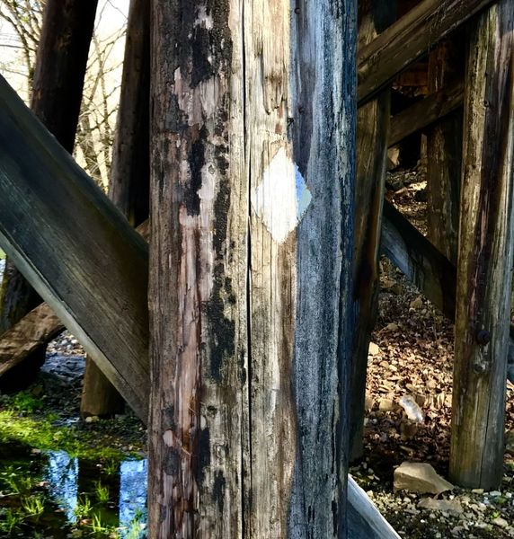 Railroad tressle at Hiwassee Outfitters, Reliance, TN