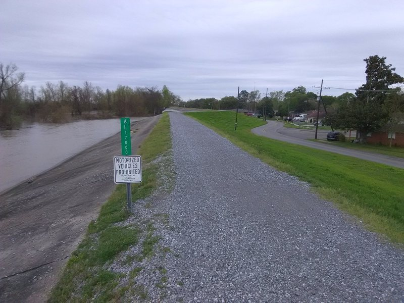 End of paved trail