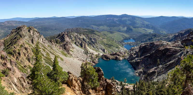 Young America Lake (front), Upper Sardine Lake (middle), and Lower Sardine Lake (back)