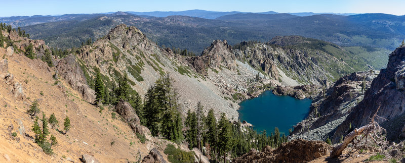 Young America Lake is surrounded by steep, rocky spires