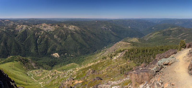 Southwestern view from Sierra Buttes across Tahoe National Forest