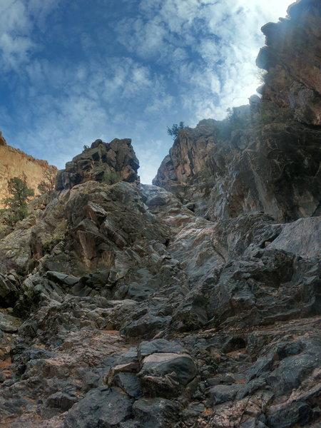 Climb up about halfway through Kodels Canyon
