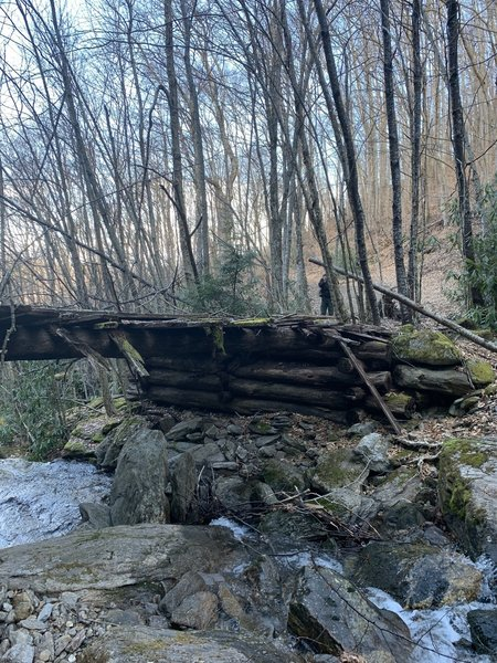 Old wooden bridge from the early 1900's during the logging period.