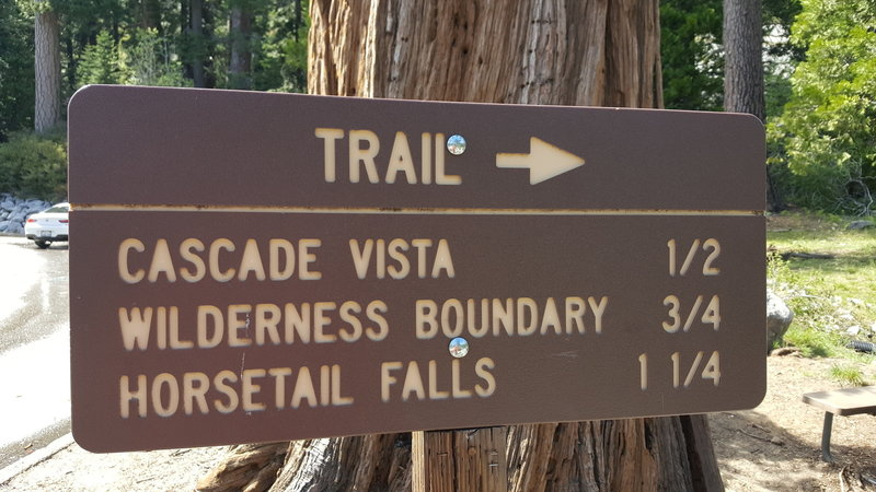 Pyramid Creek Trailhead Sign