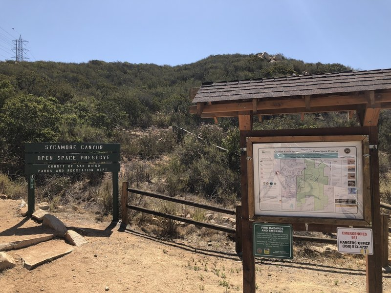 Sycamore Canyon Trailhead.