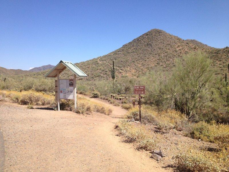 Trailhead for the Slate Trail.