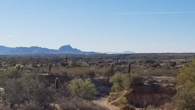 View toward Fountain Hills fountain and Red Rock mountain.