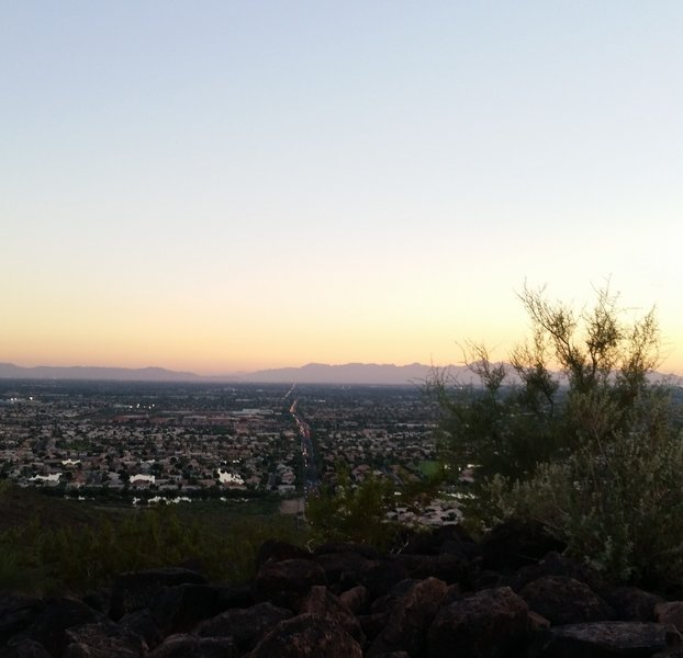 North Phoenix lookout from Cholla Loop (H3)