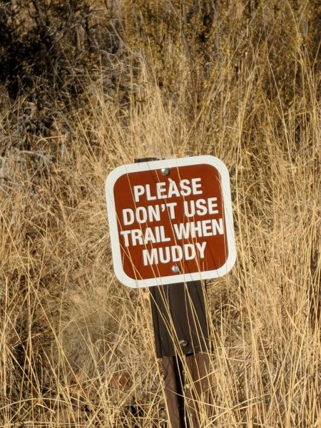 please dont use trail when muddy