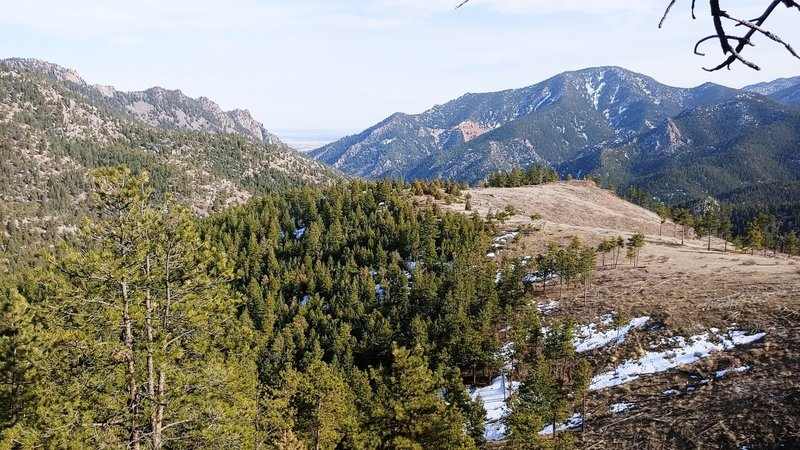 Looking out east towards Boulder