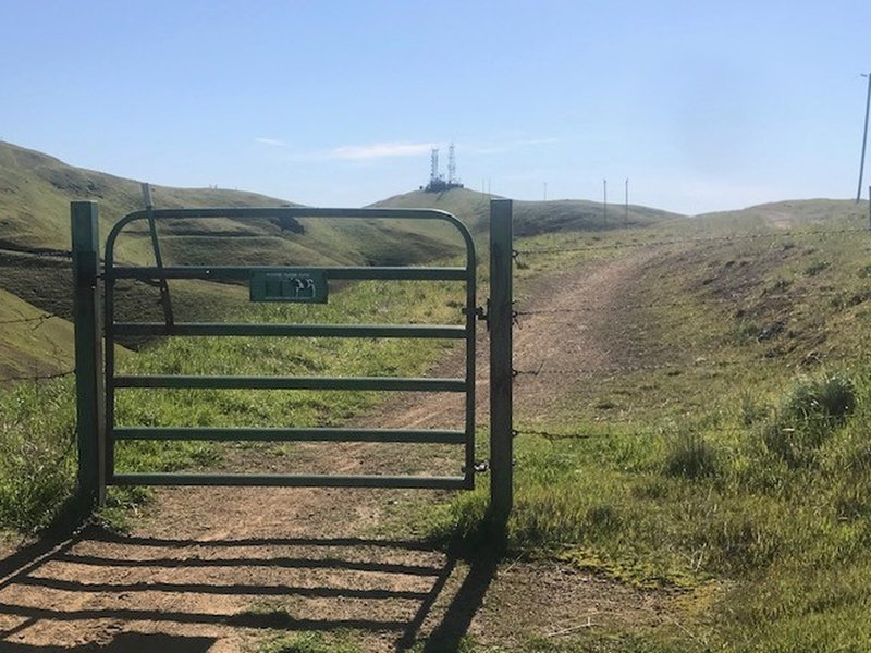Cattle Gate (summit in the distance)