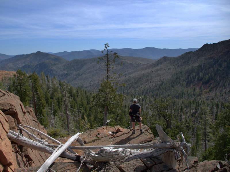 Looking east over the Kalmiopsis Wilderness from Vulvan Lake