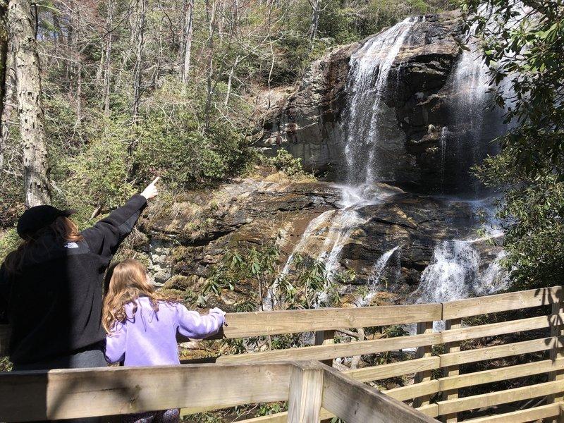 Observation point at Glen Falls in Highlands, NC