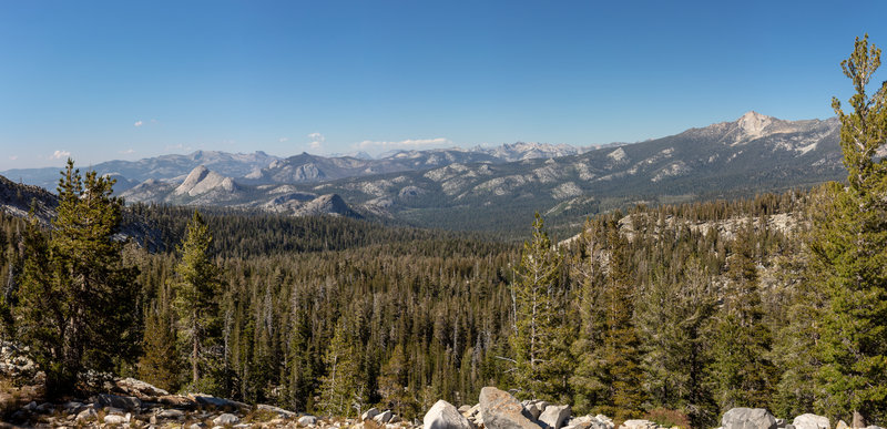 View from the Buena Vista junction across the Yosemite Wilderness