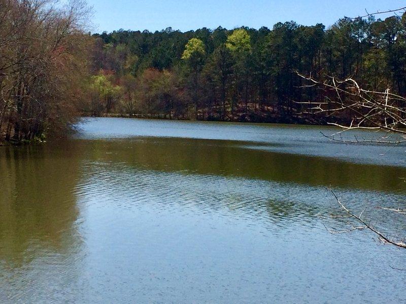 Lake that trail loops around