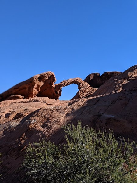Arch Rock from below
