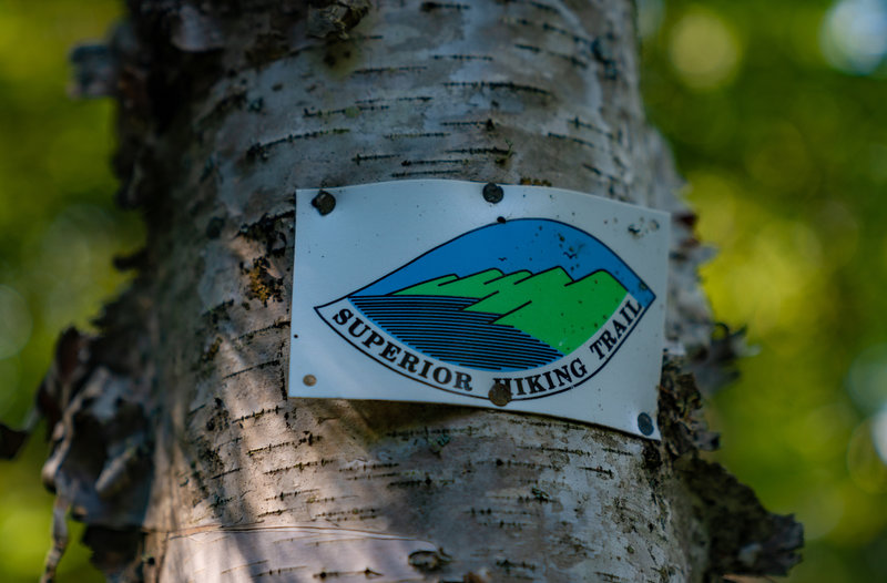 Superior Hiking Trail Signage - George Crosby State Park, Minnesota