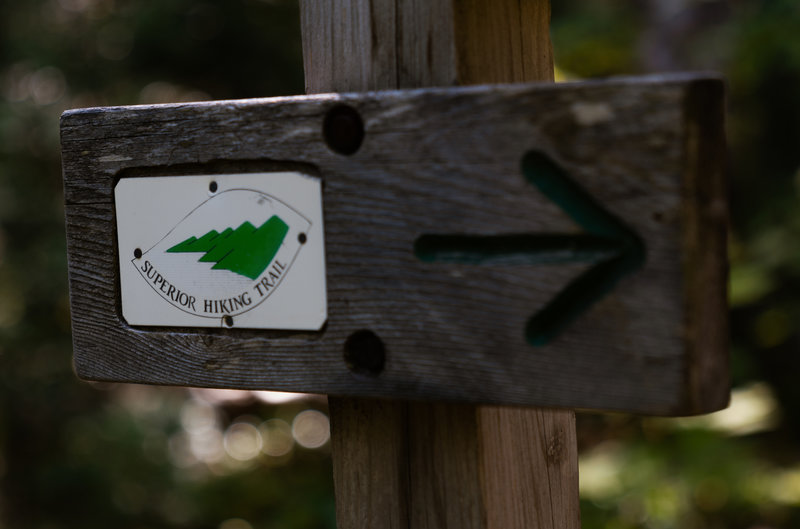 Superior Hiking Trail Arrow Sign