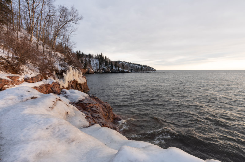 Icy Shores of Lake Superior - Tettegouche State Park, Minnesota