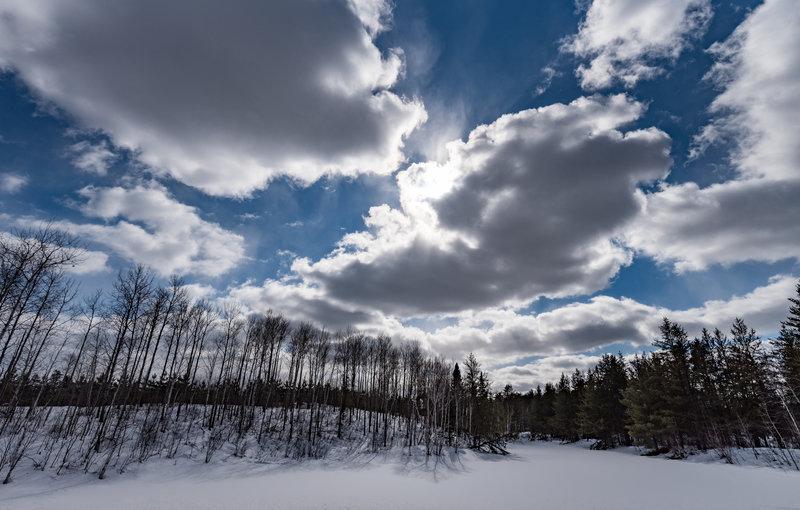 Snow-Covered Hills, Happy Wanderer, Minnesota